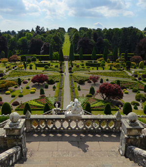 Drummond Castle Gardens which was used for filming of Versailles