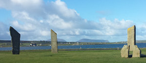 Stenness Standing Stones on the Orkney Islands