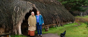 Kathie on an outlander tour at the Highland Folk Museum in Newtonmore