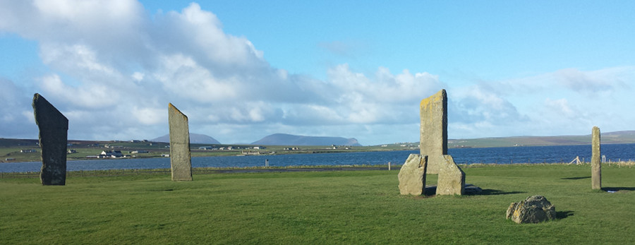 Stenness Standing Stones on the Orkeny Islands