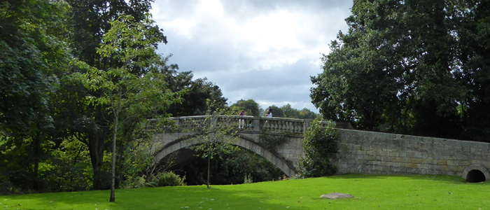 The bridge at Pollok Country Park in Glasgow used for Outlaner filming