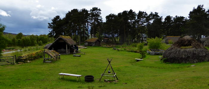 The village at the Highland Folk Museum used to film Rent