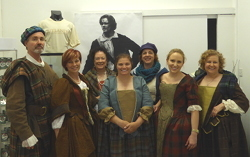 Members of an Outlander Tour in Costume